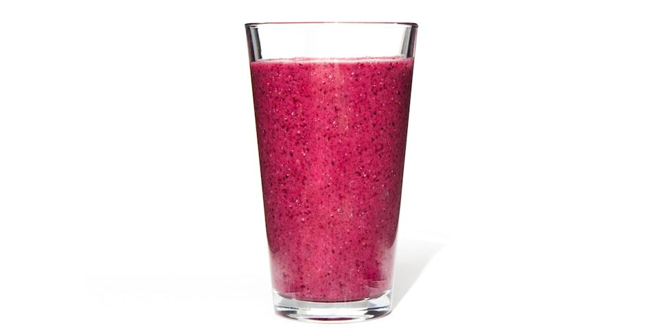 """Also delicious with frozen strawberries or mangoes instead of the pineapple, and with orange juice or any other nut milk for the liquid. <a href=""""https://www.bonappetit.com/recipe/blueberry-chia-smoothie?mbid=synd_yahoo_rss"""" rel=""""nofollow noopener"""" target=""""_blank"""" data-ylk=""""slk:See recipe."""" class=""""link rapid-noclick-resp"""">See recipe.</a>"""