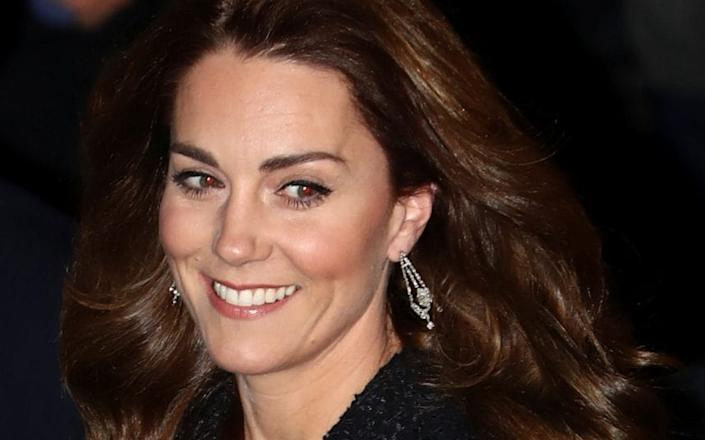 The Duchess outside the Noel Coward Theatre in the West End - Simon Dawson/REUTERS
