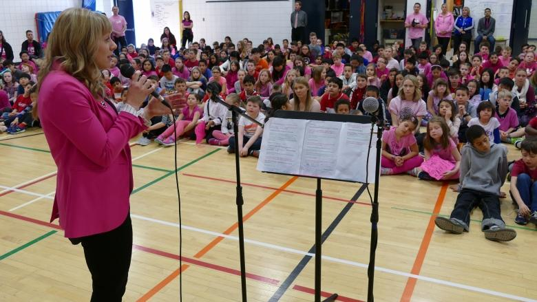 Students take action against bullying on Pink Day in Manitoba