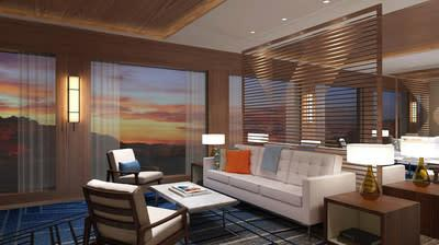 Viking's signature Scandinavian design paired with American influences are visible in the Living Room on Deck 1 of Viking Mississippi, which is designed for socializing, relaxing and entertainment. For more information, visit www.viking.com.