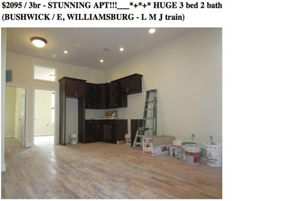 Listing fail: stunningly messy apartment