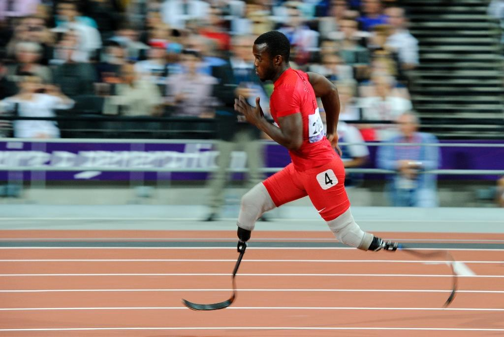 Paralympic athlete Blake Leeper (pictured) broke Oscar Pistorius's record for the T43 400 meters at the US world championship trials in Sacramento, California, on June 23, 2017 (AFP Photo/GLYN KIRK)