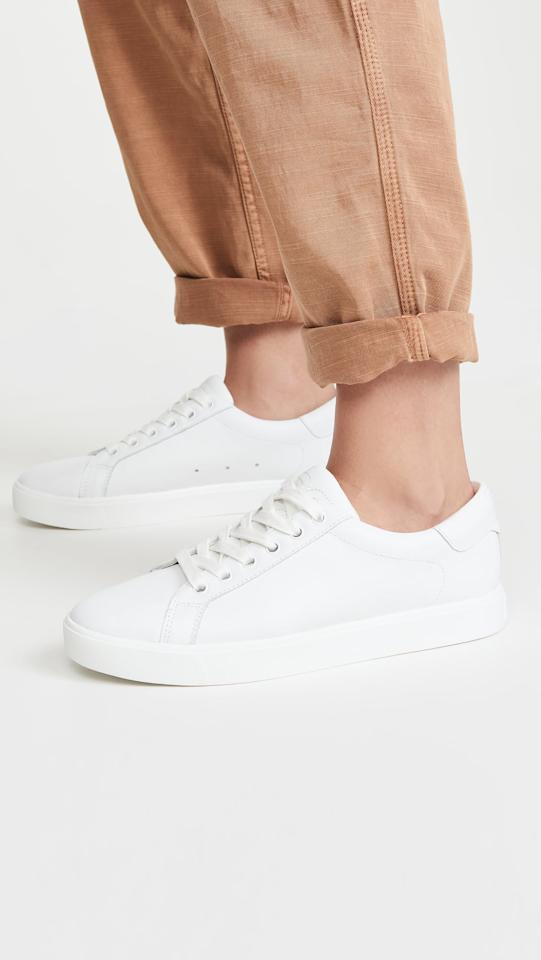 "<p>Wear these <a href=""https://www.popsugar.com/buy/Sam-Edelman-Ethyl-Sneakers-585308?p_name=Sam%20Edelman%20Ethyl%20Sneakers&retailer=shopbop.com&pid=585308&price=100&evar1=fab%3Aus&evar9=47577717&evar98=https%3A%2F%2Fwww.popsugar.com%2Fphoto-gallery%2F47577717%2Fimage%2F47578095%2FSam-Edelman-Ethyl-Sneakers&list1=shoes%2Csneakers%2Csummer%2Csummer%20fashion%2Cfashion%20shopping&prop13=api&pdata=1"" rel=""nofollow"" data-shoppable-link=""1"" target=""_blank"" class=""ga-track"" data-ga-category=""Related"" data-ga-label=""https://www.shopbop.com/ethyl-sneaker-sam-edelman/vp/v=1/1552544002.htm?colorId=14968"" data-ga-action=""In-Line Links"">Sam Edelman Ethyl Sneakers</a> ($100) with comfy trousers.</p>"