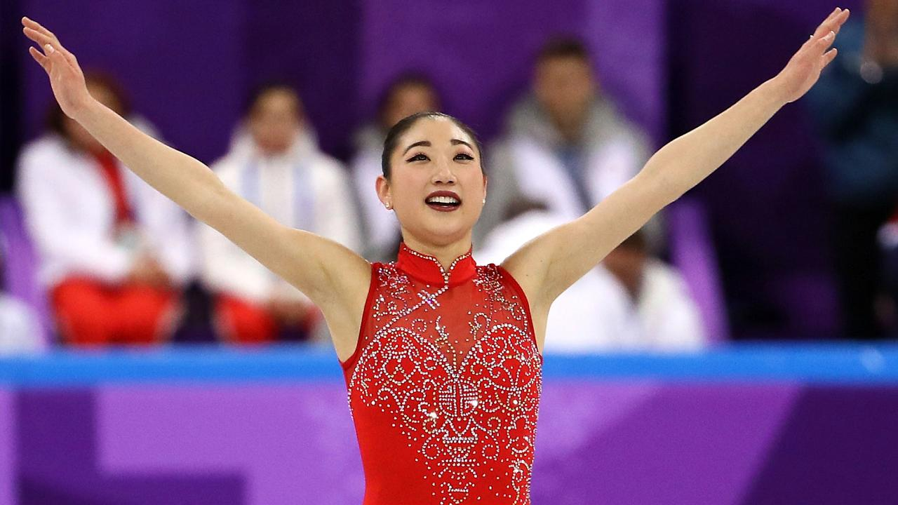 <p>Mirai Nagasu is back at the Olympics after being left off the 2014 team in favor of Ashley Wagner. Nagasu made history when she landed a triple axel in the team event, helping Team USA win the bronze medal. </p>