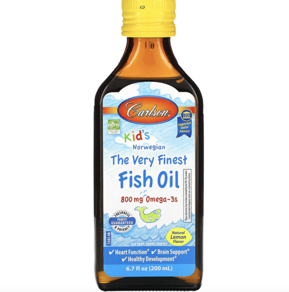The Very Finest Fish Oil, Natural Lemon, 800mg, 200ml. PHOTO: iHerb