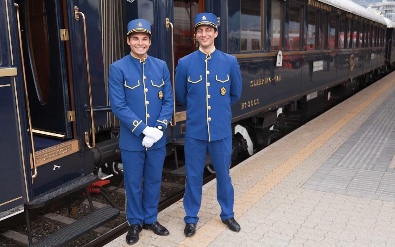 "<p><a href=""https://www.travelandleisure.com/trip-ideas/bus-train/venice-simplon-orient-express"" target=""_blank"">The Venice Simplon-Orient-Express</a> is mythical for a reason. The train runs course from <a href=""https://travelandleisure.com/travel-guide/london"" target=""_blank"">London</a> to Venice, stopping in Paris and Verona on the way. Cars are decked out in Art Deco finery, creating an atmosphere of old-school glamour. Food is sourced along the route meaning that when you sit down to dinner, there's likely to be lobsters from Brittany or crisp tomatoes from Provence on your plate. After dinner, stop by the champagne bar for a cheers that will transport you back to the golden age of luxury travel.</p>"