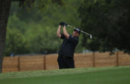 Mar 24, 2017; Austin, TX, USA; Phil Mickelson of the United States plays against J.B. Homes of the United States during the third round of the World Golf Classic - Dell Match Play golf tournament at Austin Country Club. Erich Schlegel-USA TODAY Sports