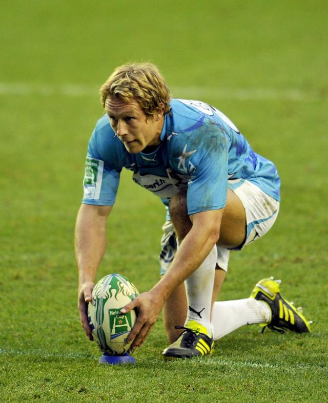 Toulon's English fly-half Jonny Wilkinson during the Heineken Cup rugby union match between London Irish and Toulon at The Madejski Stadium in Reading on December 12, 2010. AFP PHOTO / GLYN KIRK (Photo credit should read GLYN KIRK/AFP/Getty Images)