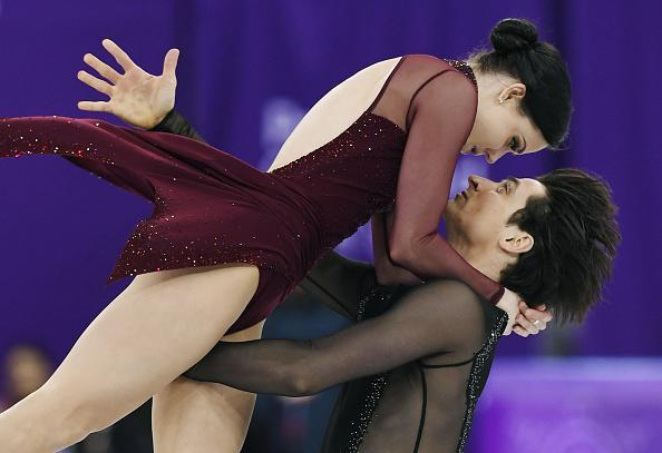 Canada's Tessa Virtue and Scott Moir perform in the free dance en route to winning the ice dance competition at the PyeongChang Winter Olympics. (Getty Images)