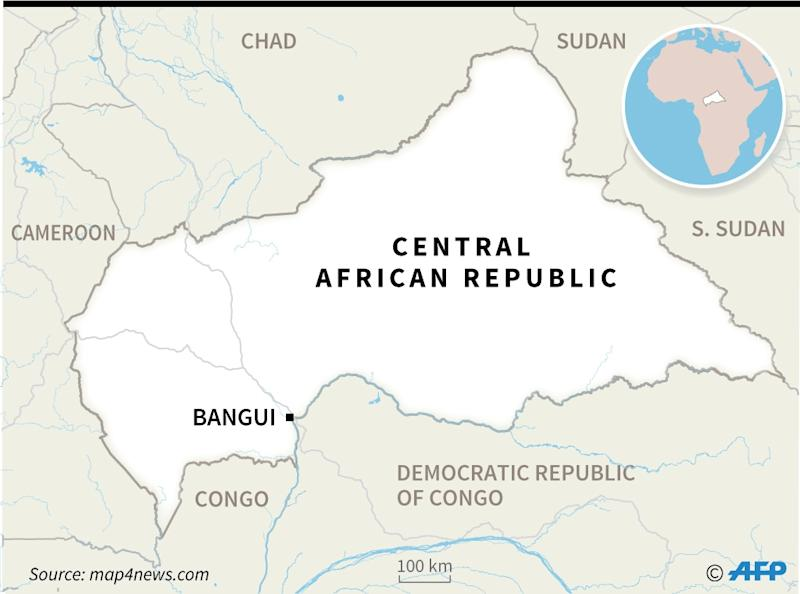 Map of the Central African Republic (AFP Photo/William ICKES)