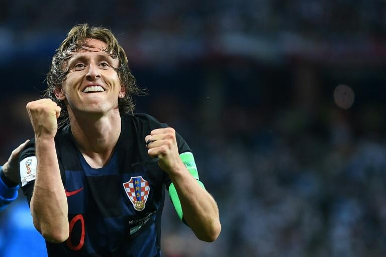 Luka Modric was crowned the best player at the World Cup for his performances with Croatia