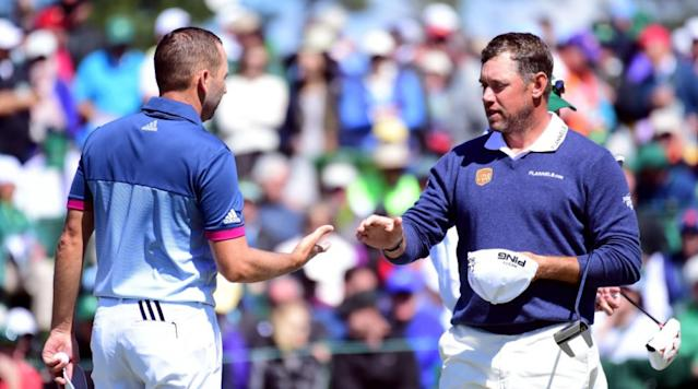 AUGUSTA, Ga. -- The second round of the Masters was a rollercoaster for some players, with Sergio Garcia racing to the top of leaderboard and Rory McIlroy facing an unlucky break on the 18th.