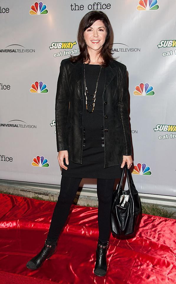 """Amy Pietz arrives at """"The Office"""" series finale wrap party at Unici Casa Gallery on March 16, 2013 in Culver City, California."""