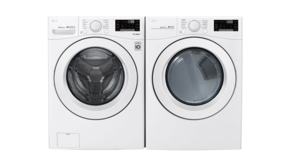 LG High-Efficiency Front Load Washer & Electric Dryer (Photo via Best Buy Canada)