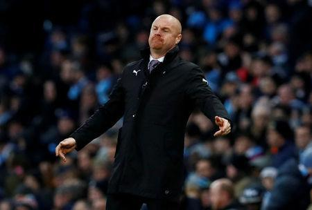 FILE PHOTO: Soccer Football - FA Cup Third Round - Manchester City vs Burnley - Etihad Stadium, Manchester, Britain - January 6, 2018 Burnley manager Sean Dyche reacts Action Images via Reuters/Jason Cairnduff/File Photo