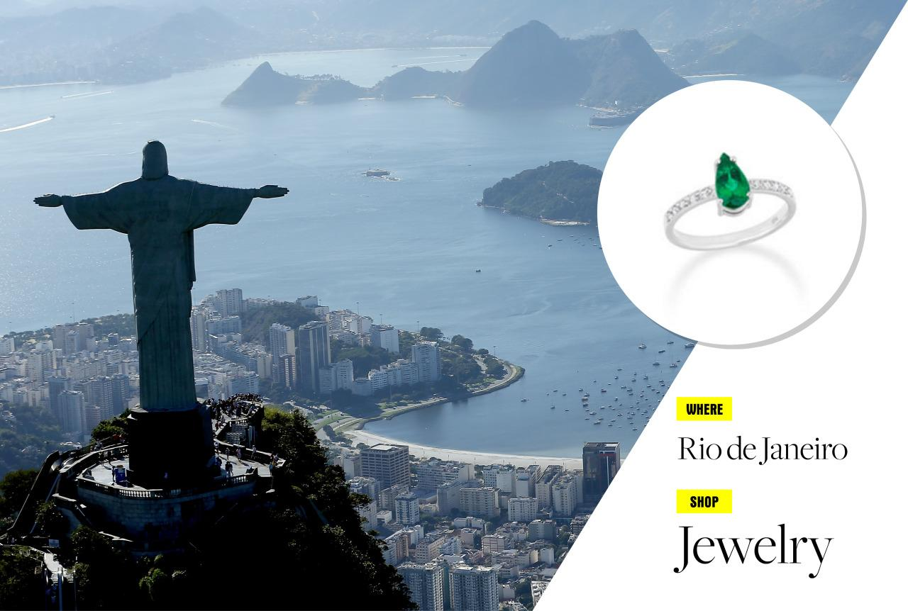 """<p>The hottest spot south of Havana is indeed Copacabana (to paraphrase Barry Manilow). With the Olympics starting Aug. 6, now might be the perfect time to visit the seaside Brazilian city of Rio de Janeiro. Stay at the supersleek<a href=""""http://www.fasano.com.br/hotelaria/hotel/2"""">Hotel Fasano</a> on Ipanema beach, visit the famous Christ the Redeemer statue and Sugarloaf Mountain, then head to the well-heeled neighborhood of Leblon to shop at local stores. Shopping in Rio is much more than swimwear and flip-flops: Jewelry is what you should be buying here, and for serious buyers, Roberta Do Rio is your one-stop shop! </p><p>Photo: Getty Images</p>"""