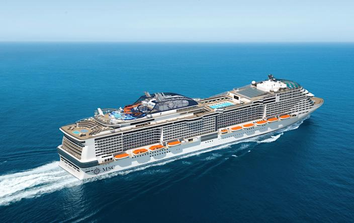 The MSC Meraviglia was denied permission to dock in both the Cayman Islands and Jamaica.