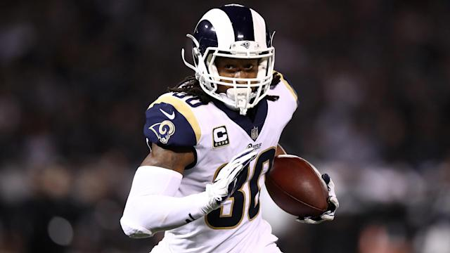 Rams running back Todd Gurley isn't a fan of Thursday games. (Getty)