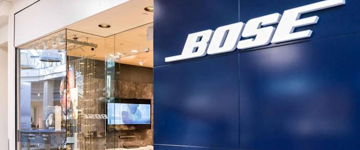 Tysons, USA - January 26, 2018: Bose closeup store sign entrance shopping in Tyson's Corner Mall in Fairfax, Virginia by Mclean