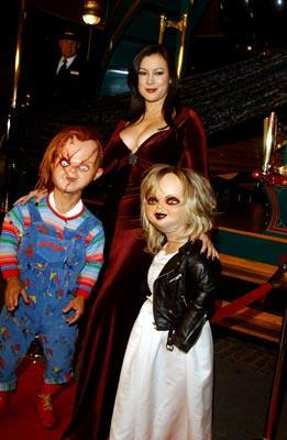 """Premiere: <a href=""""/movie/contributor/1800018758"""">Jennifer Tilly</a> with Chucky and Tiffany at the Los Angeles premiere of Rogue Pictures' <a href=""""/movie/1808405790/info"""">Seed of Chucky</a> - 11/10/2004<br>Photo: <a href=""""http://www.wireimage.com/"""">Amy Graves, WireImage.com</a>"""