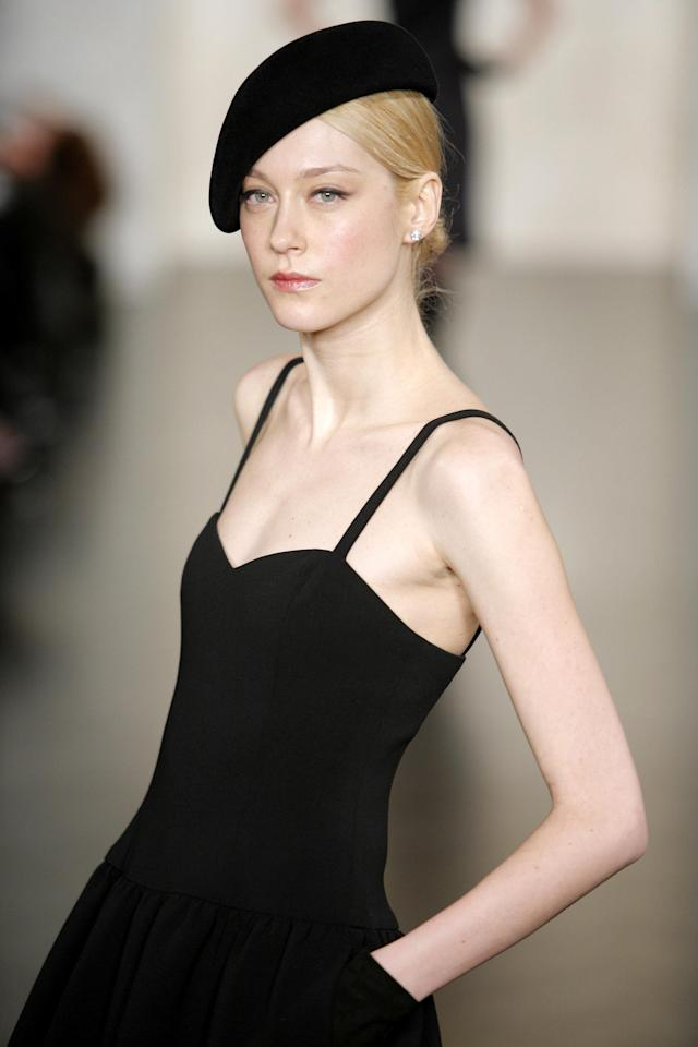 Anastassia Khozzisova wearing Ralph Lauren Fall 2007 (Photo by Randy Brooke/WireImage)