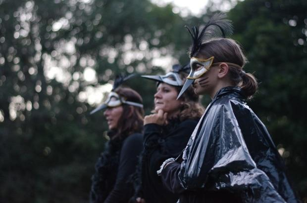 The March of the Crows is part of the one-day outdoor art festival Art in the Open every year. (Andy Reddin - image credit)