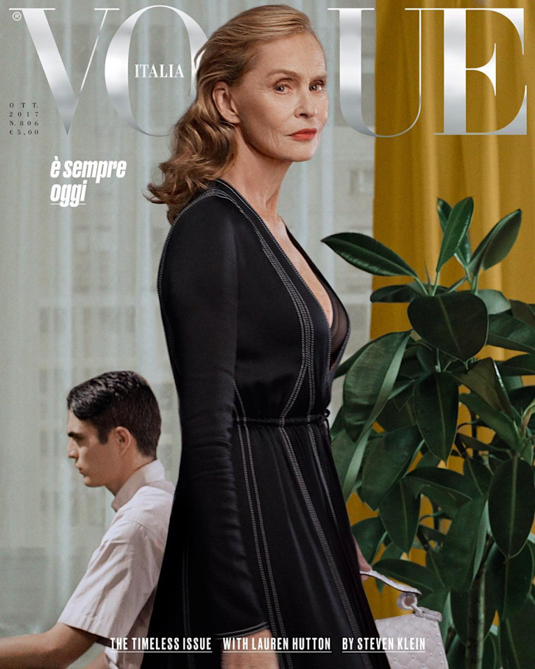 <p>Just one month earlier, the 73-year-old graced the cover of <em>Vogue Italia</em>. (Photo: Steven Klein/Vogue Italia) </p>