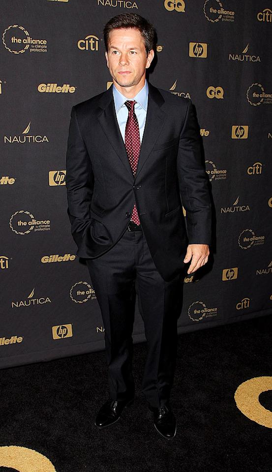 """Max Payne's"" Mark Wahlberg dons a dapper suit and a frown for the fete which salutes the studs of the year. Andrew H. Walker/<a href=""http://www.gettyimages.com/"" target=""new"">GettyImages.com</a> - October 15, 2008"