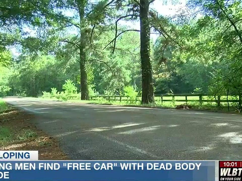 The location where a 'free car' was allegedly taken from, in Mississippi  (WLBT TV)