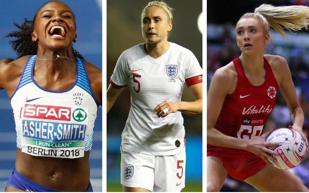 Dina Asher-Smith, Steph Houghton and Helen Housby all have a big summer of sport ahead - Getty Images