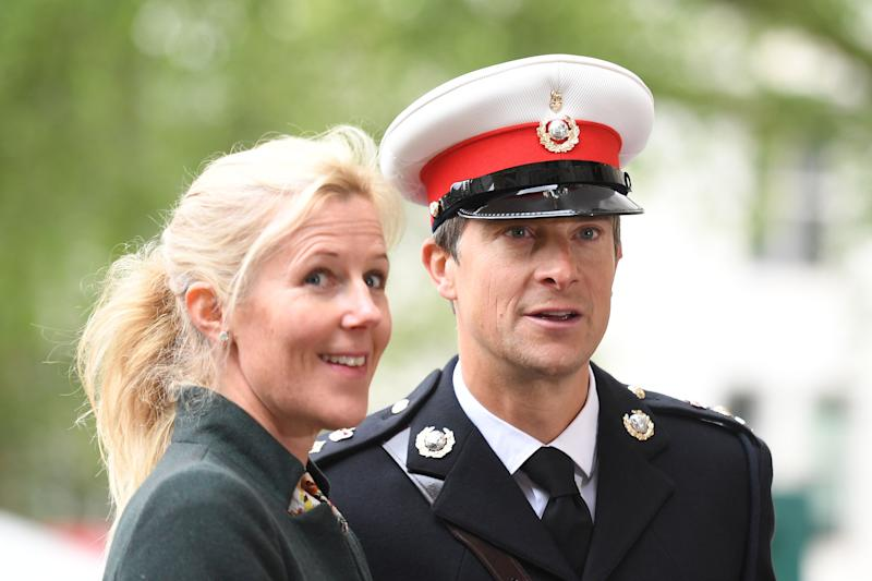 Bear Grylls and his wife Shara arrive at Westminster Abbey