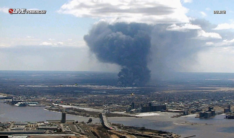 Residents can return home after explosions, fires at Wisconsin oil refinery