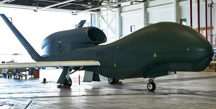 A Broad Area Maritime Surveillance Demonstrator (BAMS-D) unmanned aircraft system