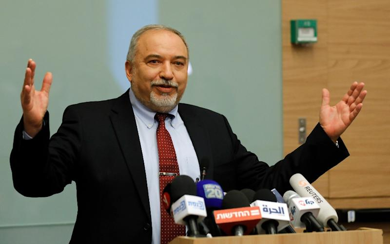 Israeli Defence Minister Avigdor Lieberman's departure removes five seats from the coalition of Prime Minister Benjamin Netanyahu, with whom Lieberman has made clear he disagrees (AFP Photo/Menahem KAHANA)