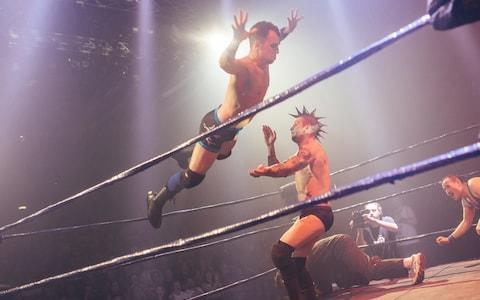 Two wrestlers in a ring - Credit: David Monteith-Hodge