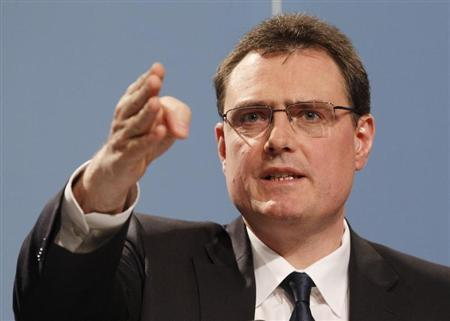 Swiss National Bank SNB Chairman Jordan speaks to media during a news conference in Bern