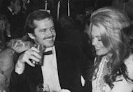<p>Jack Nicholson and Dyan Cannon at a party, circa 1975.</p>