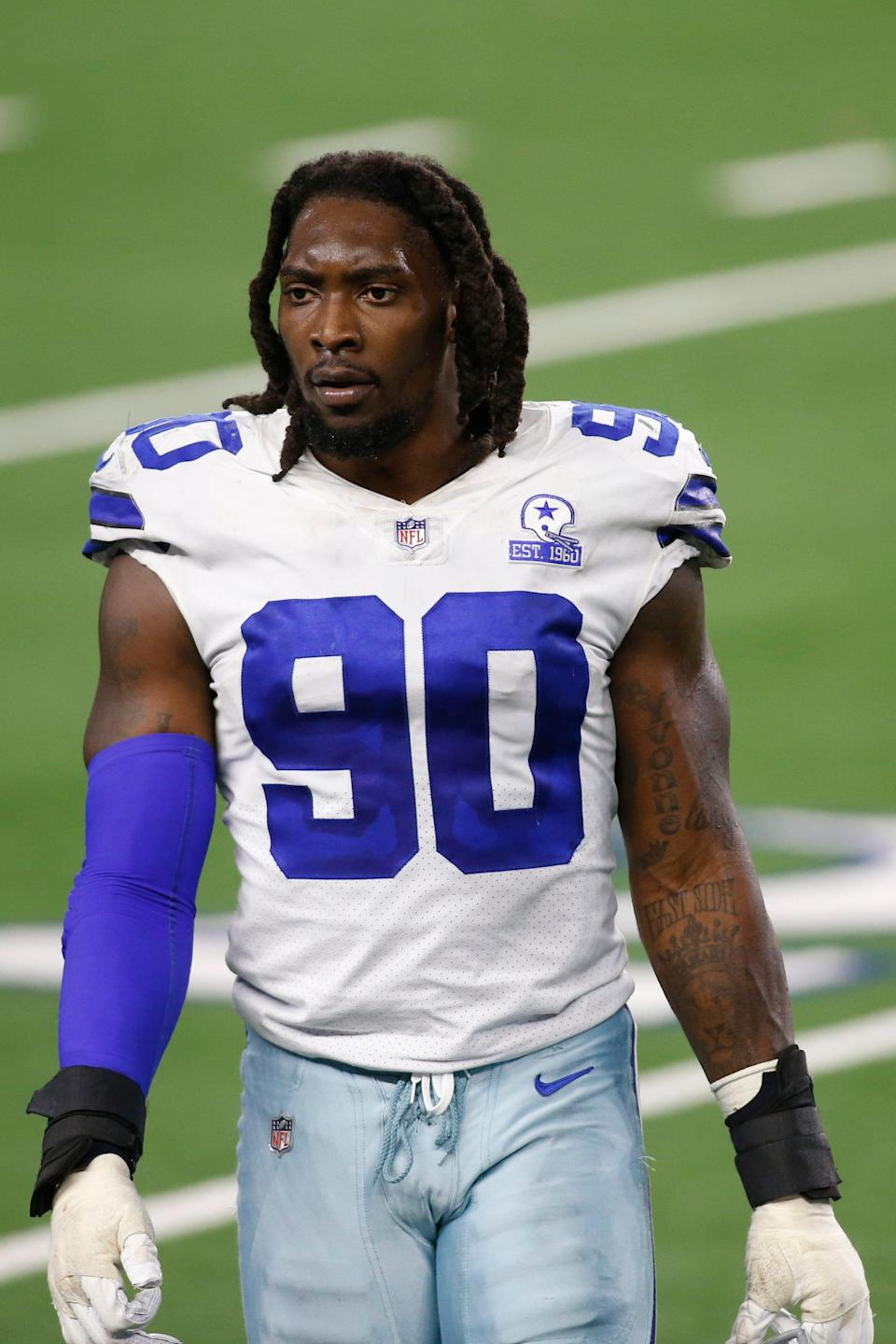 DeMarcus Lawrence is in his eighth season with the Cowboys, and has registered 45.5 career sacks.