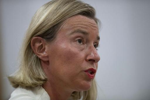 European Union foreign policy chief Federica Mogherini says Venezuela's government and opposition should return to the negotiating table