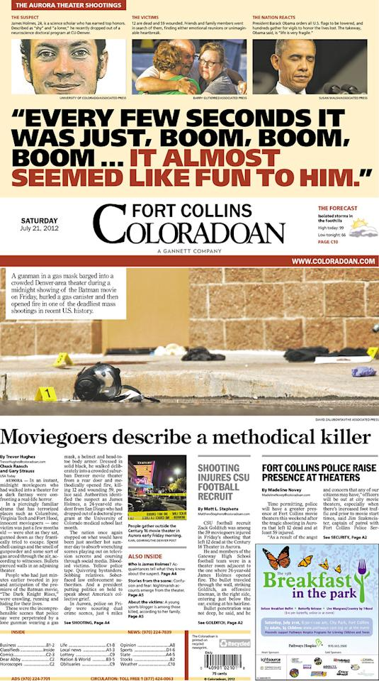 Fort Collins Coloradoan, July 21, 2012