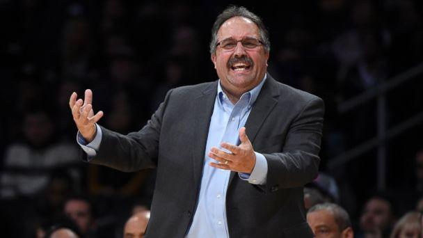 PHOTO: Head coach Stan Van Gundy of the Detroit Pistons reacts towards his players during the second half of the basketball game against Los Angeles Lakers at Staples Center, Jan. 15 2017, in Los Angeles. (Kevork Djansezian/Getty Images)