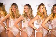 <p>You know you're a big deal when you dress as yourself for Halloween. Yes, really. Heidi arrived at her 2016 party in her Victoria's Secret best with an army of lookalikes. </p>