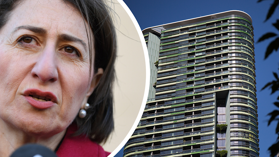 Pictured: NSW Premier Gladys Berejiklian and Sydney's Opal Tower. Images: AAP