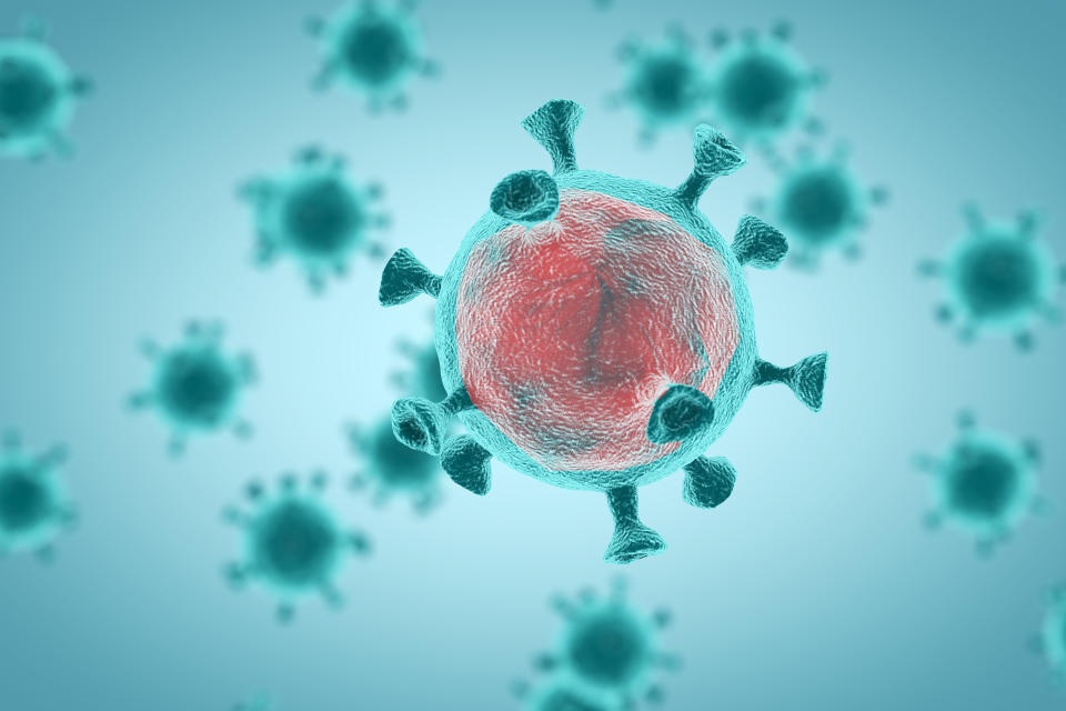 Both small and large amounts of virus can replicate within our cells and cause severe disease in vulnerable individuals such as the immunocompromised. (Getty Images)