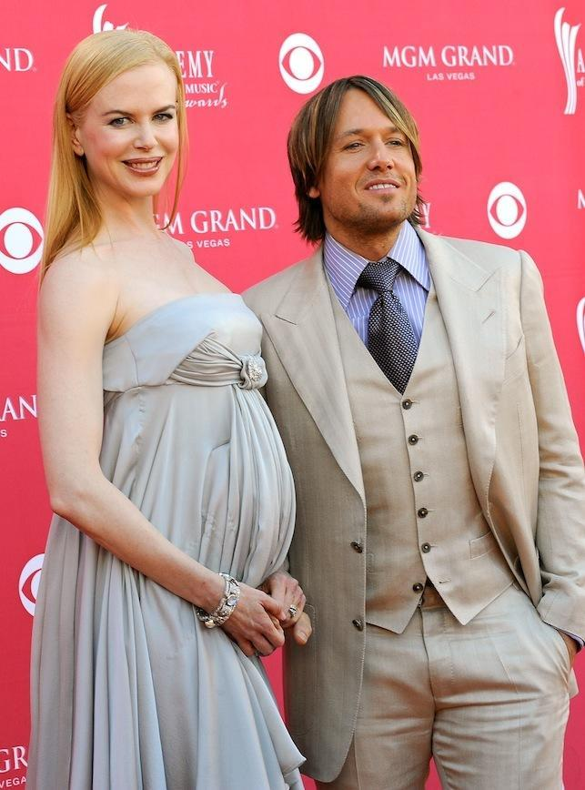 Pregnant Nicole at the 2008 Academy of Country Music Awards in Las Vegas with Keith