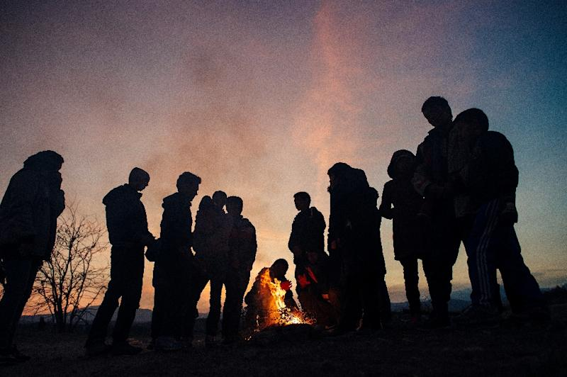 Migrants and refugees like these pictured near the Greek-Macedonian border November 15, 2015, are part of a changing security calculus that has US lawmakers rethinking a visa-waiver program to tighten entry requirements