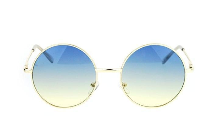 <p>Channel your inner flower child in these <span>2-Tone Color Lens Circle Hippie Sunglasses</span> ($10). </p>