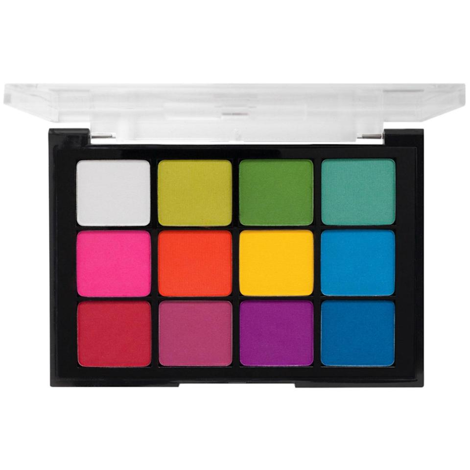 """With colors brighter than a pack of Crayola crayons, it's no wonder many makeup pros (including <a href=""""https://www.instagram.com/benjaminpuckey/?hl=en"""" rel=""""nofollow noopener"""" target=""""_blank"""" data-ylk=""""slk:Benjamin Puckey"""" class=""""link rapid-noclick-resp"""">Benjamin Puckey</a>) look to Viseart's Editorial Brights Palette to bring their wildest eye makeup musings to life."""