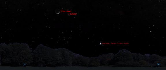Jupiter Shines Near the Moon Sunday: How to See It