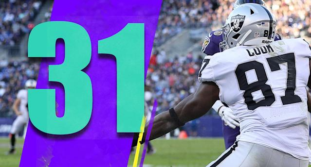 <p>Jared Cook's one-handed touchdown catch was one of the best you'll see this season. At 31, Cook probably isn't a cornerstone of the Raiders' rebuild, but he's having a remarkable season. (Jared Cook) </p>